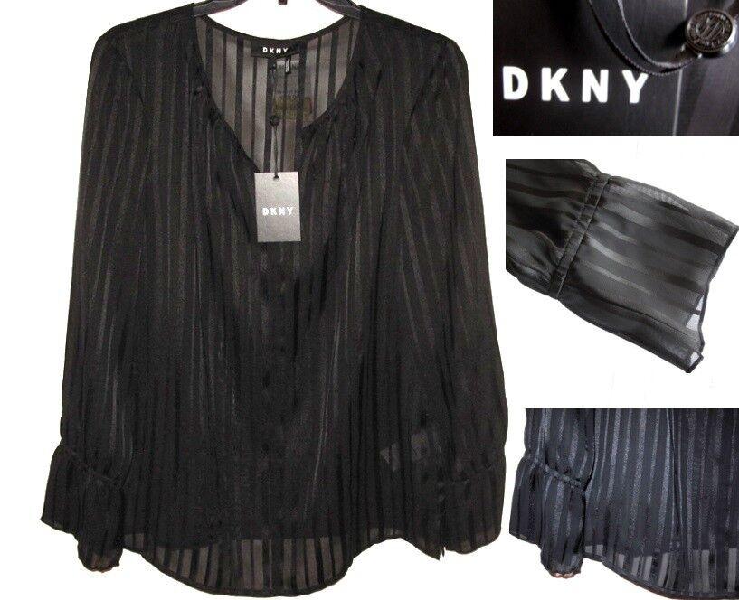 NWT DKNY damen Karan damen Basics Blouses schwarz Größe S -