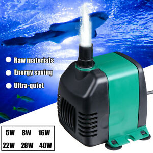 Details About Portable Aquarium Waterfall Water Pump Submersible Pond Fish Tank Sump Fountain