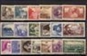Francia-Stamp-Ano-Completo-1940-19-Sellos-Nuevos-Xx-Muy-Buen-Estado-Valor