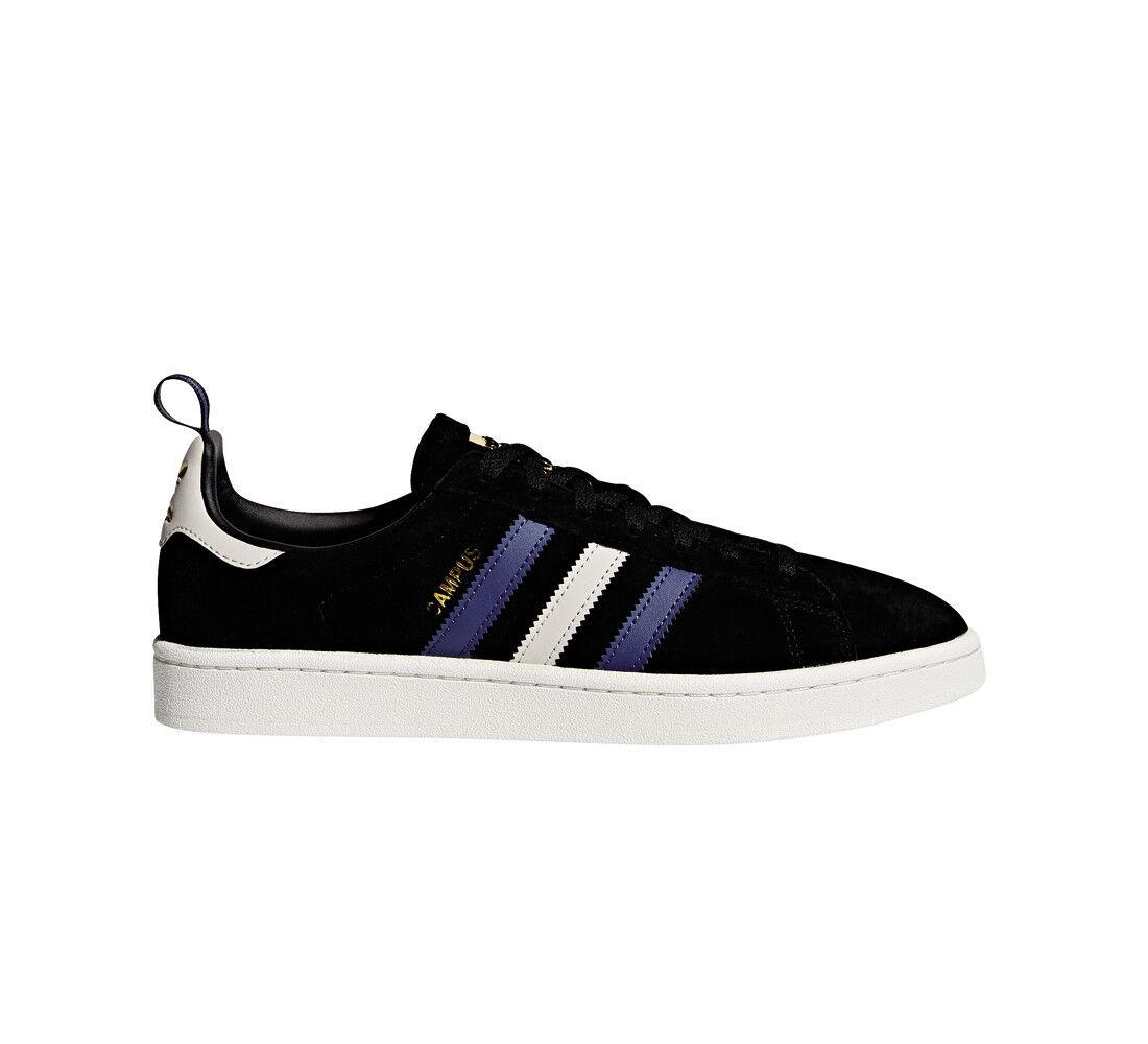 Adidas Schuhe Sneaker Campus Suede Stripes CQ2049 Schwarz Herren Neu div. Größen