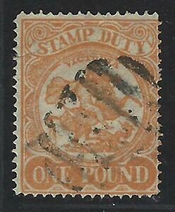1884-96 Victoria Scott #ar48 (sg #262) - £1 Post Rider Stamp Duty Stamp - Used Avoir Une Longue Position Historique