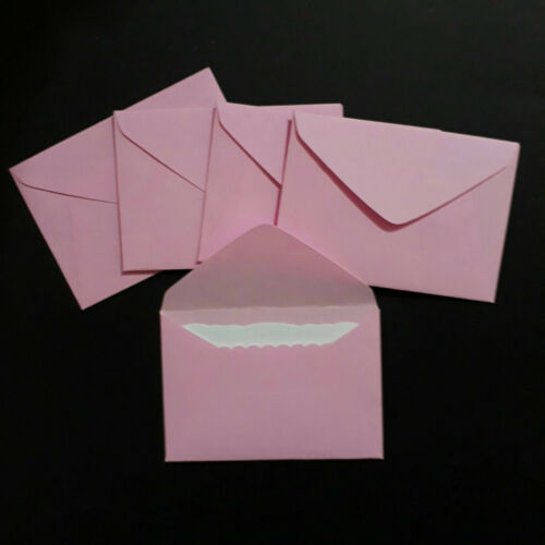 "10 Sky Blue Mini Envelopes 2-5//8/"" x 1-7//8/"" 68 x 47mm handmade little small"