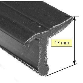 Flocked Small Window Trim Drip Seal For Door Panel Sold In Metre Lengths