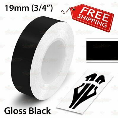 "19mm 3//4/"" PinStriping Stripe Tape Car Styling Decal Vinyl Sticker GLOSS BLACK"