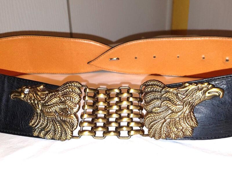 Gü101-raritÄt Adler W.neu Schwarz Echt Leder 5,5 Cm Breit 88 Cm Lang S M Gürtel In Vielen Stilen