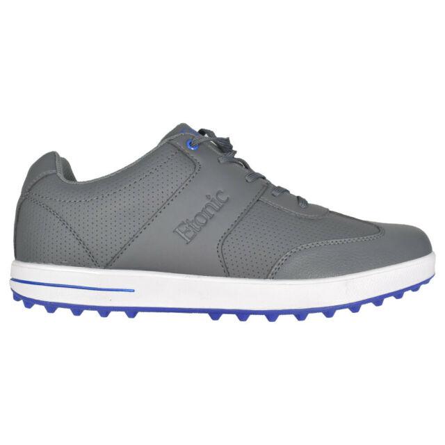 NEW Mens Etonic Comfort Hybrid Waterproof Golf Shoes Grey / Blue- Choose Your Sz