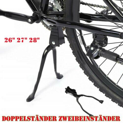 Alu Fahrradständer Doppelständer Zweibeinständer Mittelständer 26 Zoll und höher