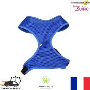 Harnais-Souple-Respirant-Bleu-Fonce-pour-Chien-Chiot-et-Chat-XS-S-M-L-XL-Neuf-FR