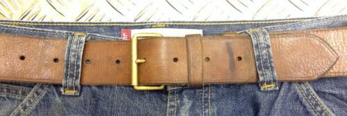 Genuine Swedish Army unique vintage en cuir marron Pantalon Ceinture-Toutes Tailles