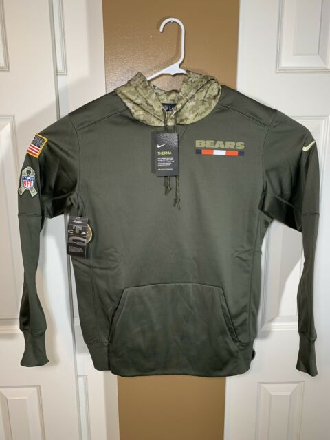 dfa4ff187 2017 Chicago Bears Men s NIKE STS Salute to Service Therma-Fit Hoodie Medium