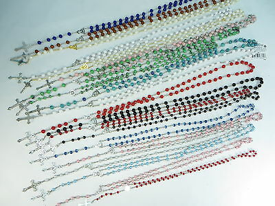 US SELLER-10pcs rosary necklace Religious catholic Crucifix cross wholesale lot