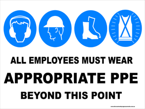 APPROPRIATE PPE Multi-Condition PPE Signs BEYOND THIS POINT