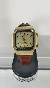 Vintage-Russian-Alarm-Wind-Up-Watch-Rare-collector-clean-watch