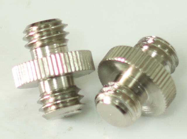 """2pcs 3/8""""-16 to 3/8""""-16 double Male Threaded screw Adapter for tripod camera"""