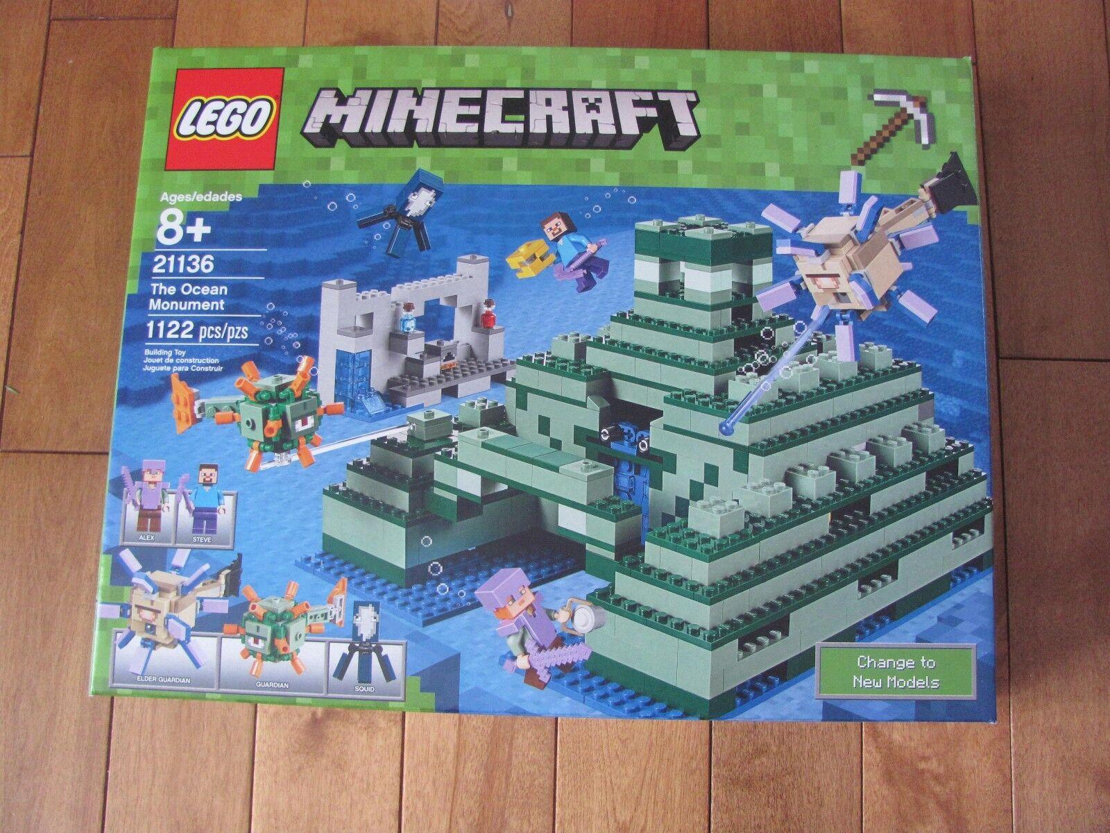 LEGO Minecraft THE OCEAN MONUMENT 1122 Pcs Set NEW Sealed