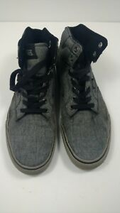 98d1a20b8fd809 VANS Men s Winston Rock Hi Top Sneakers Gray Black Shoes Size 9.5 ...