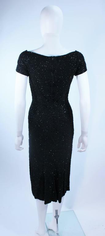 CEIL CHAPMAN Black Beaded Cocktail Dress Size 2 - image 2