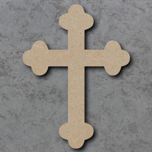 Grand mdf croix Craft en bois forme blanc bois 20,30 40 cm non peinte