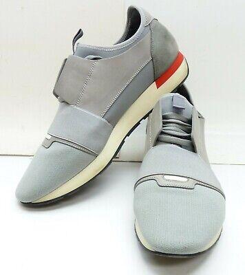 BALENCIAGA Race Runners White Gray Red Sneakers Size 11 US45 EU FREE SHIPPING | eBay