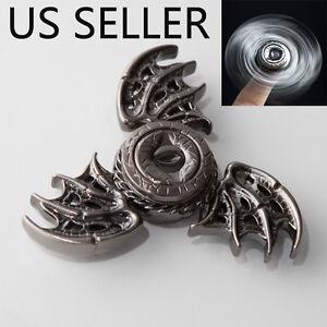 Wing  Alloy Tri-Spinner Fidget Toy 3D EDC Hand Finger Spinner Silver