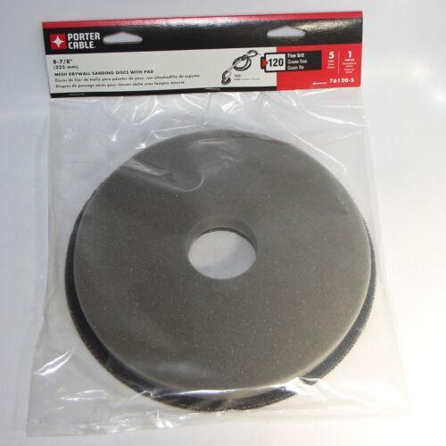"Pad 5pc Porter Cable 76120-5 8-7//8/"" 120 Grit Mesh Sanding Disc for 7800 Sander"