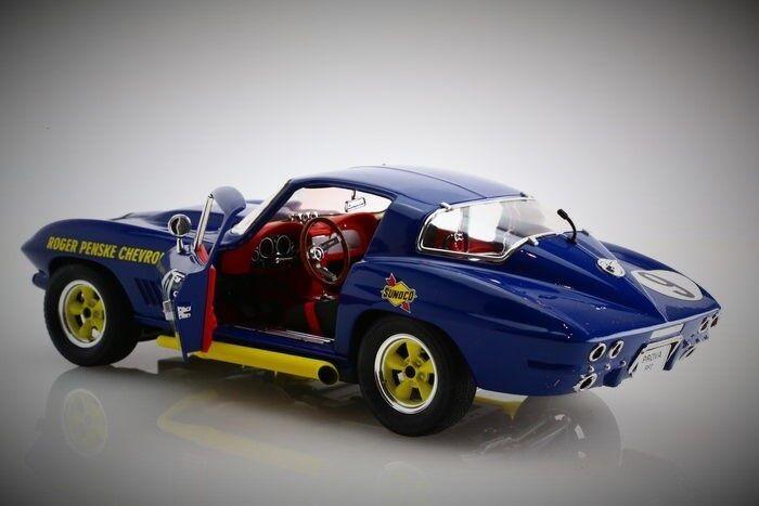 Chevy 1 1967 Vette Corvette 12 Sport 64 Race Race Race Car 18 Vintage 24 Carousel bluee 43 038bae