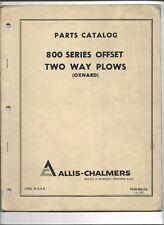 Original Oem Allis Chalmers 800 Series Offset Two Way Plows Oxnard Parts Catalog