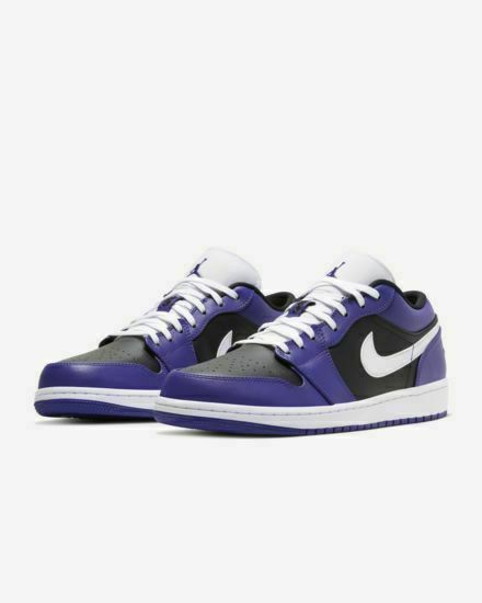 Nike Air Jordan 1 Low Court Purple/Black/White, Size 10.5 (553558 ...