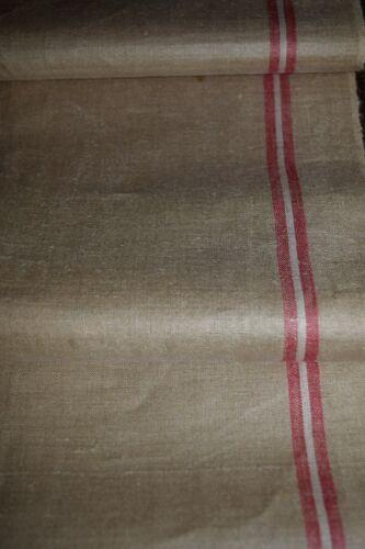 ** Altes Mangeltuch//Rolltuch längs rote Streifen Leinen neuwertig** 1-19