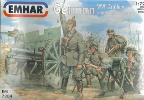 Emhar 1:72 EM7204 German WWI Artillery with 96 n//A 76mm gun