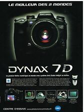 Publicité Advertising 2004 Appareil Photo Dynax 7D