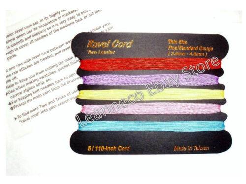 1 Ravel cord Set all fine//standard gauge machine Knitting Brother S//Reed Singer