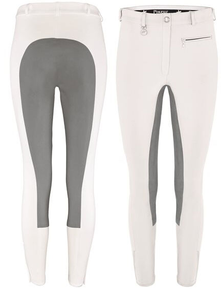 Pikeur Lugana Full Seat Breeches  in White Grey  discounts and more