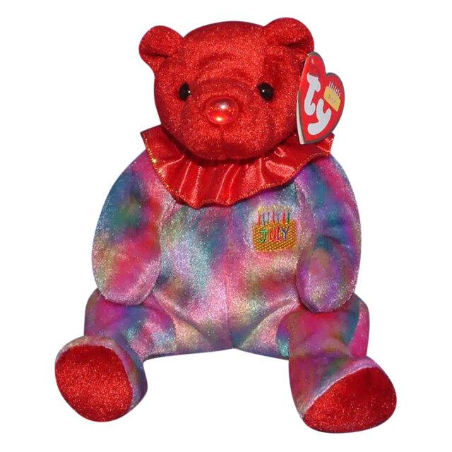 Ruby July Birthday Birthstone Ty Beanie Babie 8in Bear 3up Boys ... 5f120e5bfc9