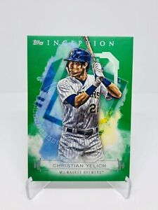 2019-Topps-Inception-Christian-Yelich-Green-Base-Milwaukee-Brewers