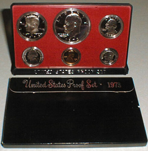 1973 United States Mint Annual 6 Coin Proof Set Original Box