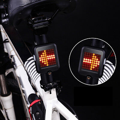 64LED Wireless Remote Bicycle Bike Rear Tail Laser Light Turn Signals Safety NEW