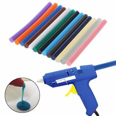 20 Pcs 100mmx7mm Shinning Red Hot Melt Glue Adhesive Stick for Heating Gun