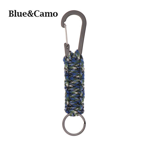 Rings Paracord Cord Keychain Outdoor Camping Keyring Emergency Rope Carabiner