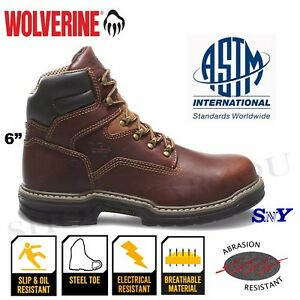 Steel Toe Leather work boots ASTM RATED