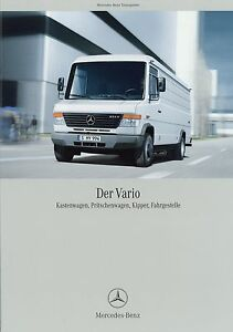 Mercedes-Vario-Transporter-Prospekt-2004-9-04-Lkw-Lastwagen-brochure-Broschuere