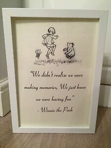 Winnie the pooh quote black white print art framed gift a4 image is loading winnie the pooh quote black amp white print thecheapjerseys Choice Image