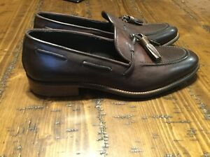 Kenneth-Cole-New-York-Thrill-Iant-Mens-Brown-Casual-Dress-Loafers-Shoes-8-New