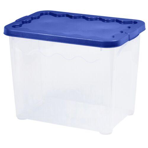 Ensemble de 2 boîtes de rangement en plastique empilables balconnet contenant baignoire Accueil Bureau bien rangé