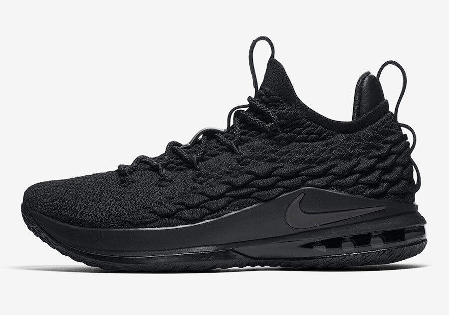 Nike LeBron 15 XV Low Triple Black Size 13. AO1755-004