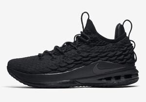 b341b33309d0 Image is loading Nike-LeBron-15-XV-Low-Triple-Black-Size-