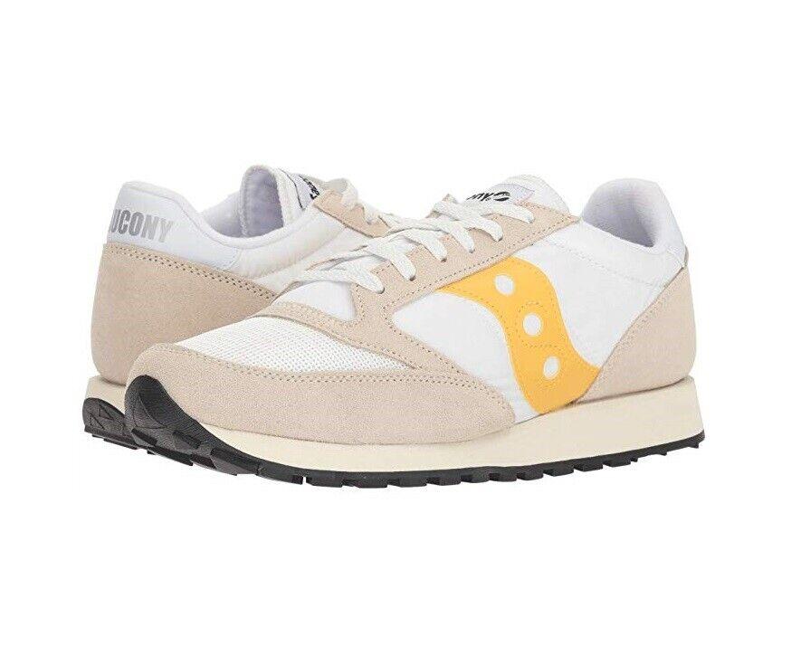 Saucony Jazz Original Vintage shoes Cement Yellow, Size 10.5