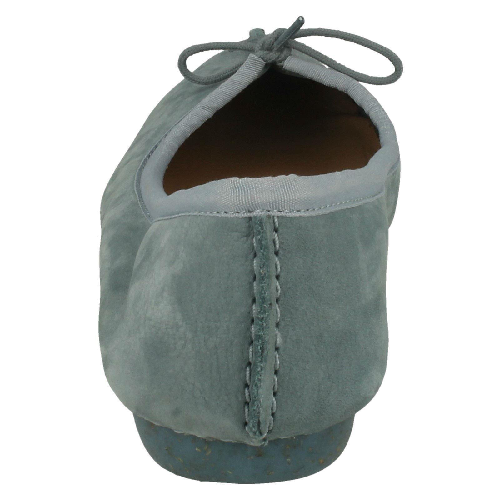 LADIES CLARKS Schuhe UNSTRUCTUROT SLIP ON BOW CASUAL BALLERINA FLAT Schuhe CLARKS FRECKLE ICE e1794b