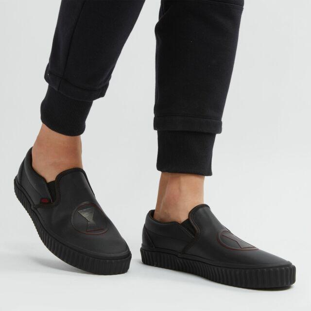 all black vans slip ons womens
