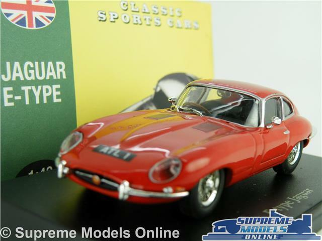 JAGUAR E TYPE MODEL CAR 1 43 SCALE RED CLASSIC ATLAS NOREV COUPE E-TYPE K8